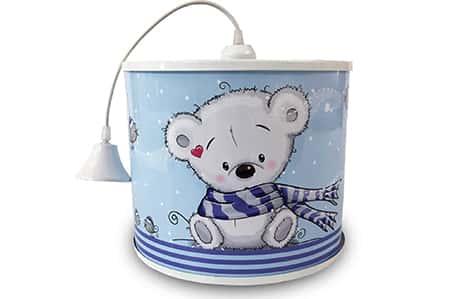 لوستر کودک طرح خرس شالدار کد 001