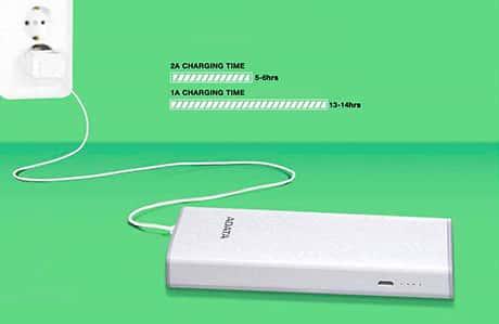 شارژر همراه ای دیتا مدل P10000 یکی از پاور بانکهای 10000 میلیآمپر 1