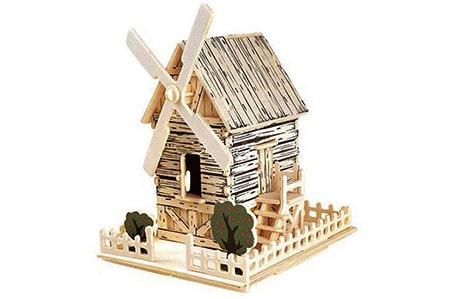 پازل چوبی 3 بعدی مدل آسیاب بادی