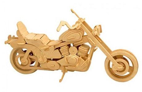 پازل چوبی 3 بعدی موتور سیکلت مدل هارلی دیویدسون