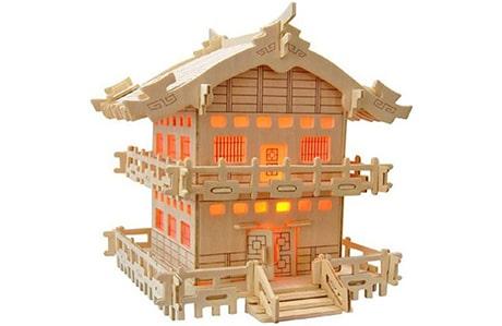 پازل چوبی سه بعدی رایا مدل خانه ژاپنی E