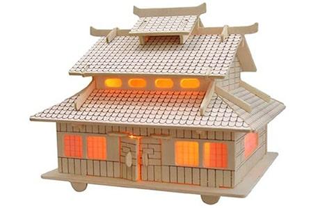 پازل چوبی سه بعدی رایا مدل خانه ژاپنی