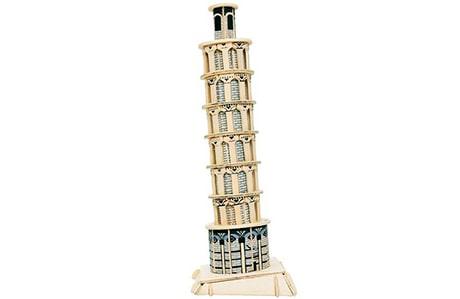 پازل چوبی سه بعدی ژیکوباو مدل برج پیزا