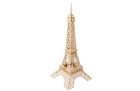 پازل چوبی سه بعدی ژیکوباو مدل برج ایفل