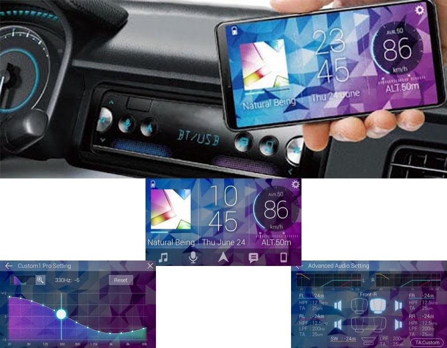 کنترل پخش صوت اتومبیل با تلفن هوشمند